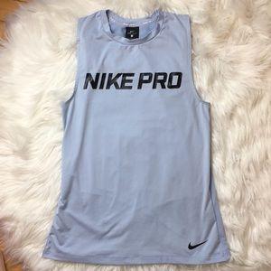 Nike Pro Blue Tank Top Mesh Back